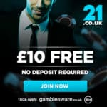 21.co.uk Casino Bonus And Review