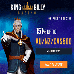 King Billy Casino Bonus And Review