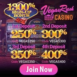 Vegas Rush Casino Bonus And Review