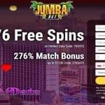 Jumba Bet Casino: 76 Free Spins + 276% Bonus