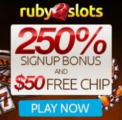 RubySlot Casino Banner - 250x250