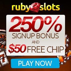 Ruby Slots Casino Bonus And Review