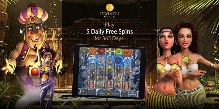 DaVinci's Gold Casino Promotion