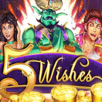 """Prism Casino: 50 Free Spins on """"5 Wishes"""""""