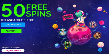 Sloto Stars: 50 Free Spins on Asgard Deluxe
